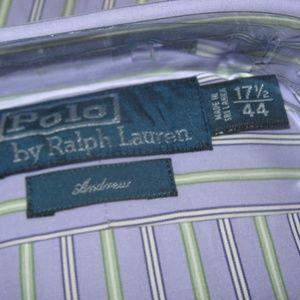 Polo by Ralph Lauren Shirts - Ralph Lauren Andrew Striped Purple Dress Shirt